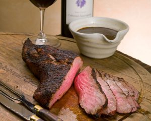 Smoked Tri-Tip with Sun-Dried Cherry Steak Sauce - Cakebread Cellars