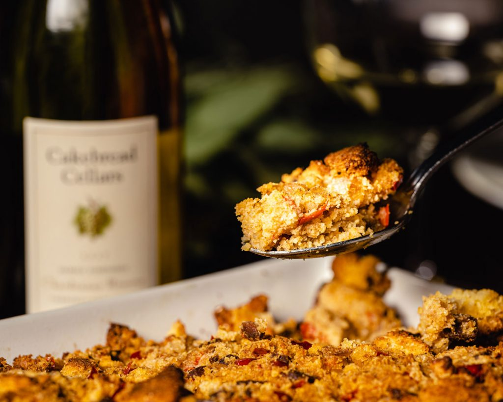 Cornbread Stuffing with Andouille Sausage, Fennel and Sweet Peppers - Cakebread Cellars