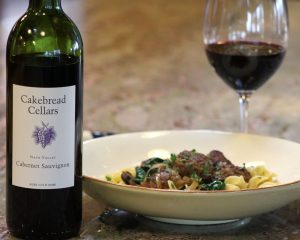 Duck Meatballs with Foie Gras, Caramelized Onions and Crimini Mushrooms - Cakebread Cellars
