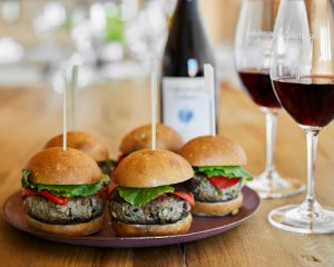 Duck Sliders with Green Olives, Pine Nuts & Kale - Cakebread Cellars