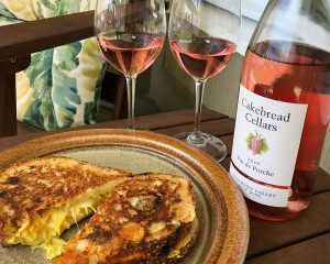 Grilled Cheese Sandwich with Pt. Reyes Farmstead Toma, Pickled Golden Beet Slaw & Whole Grain Mustard - Cakebread Cellars