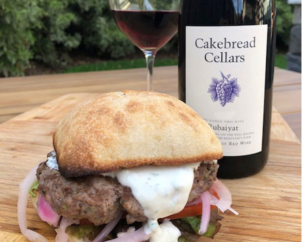 Lamb Burgers with Whipped Feta and Pickled Fennel - Cakebread Cellars