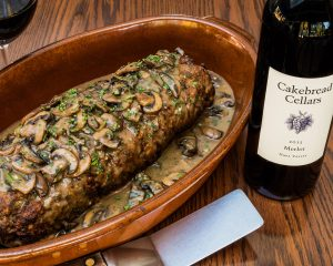 Mom's Meatloaf with Mushroom Gravy - Cakebread Cellars
