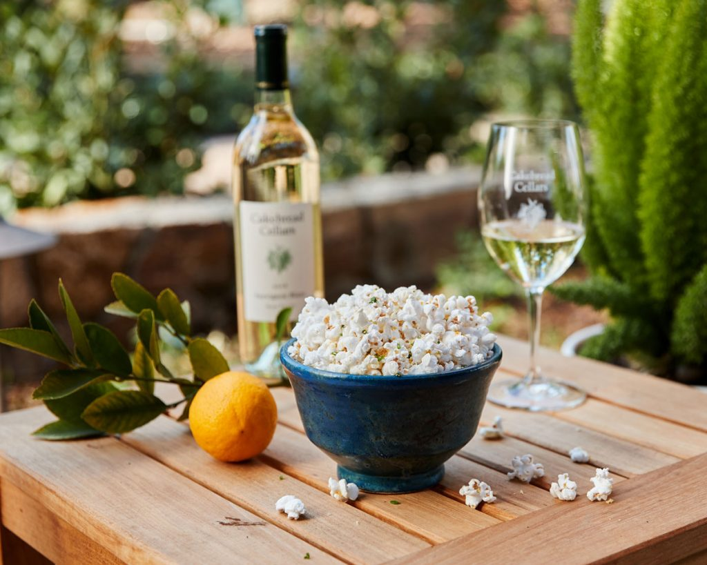 Estate Popcorn with Meyer Lemon & Parmesan - Cakebread Cellars