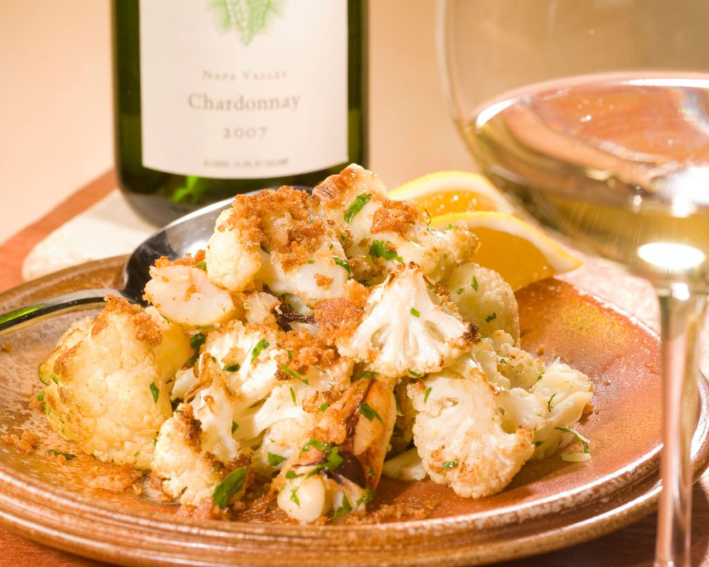 Roasted Cauliflower with Dungeness Crab - Cakebread Cellars