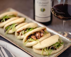 Steamed Bao Buns with Chinese BBQ Pork - Cakebread Cellars