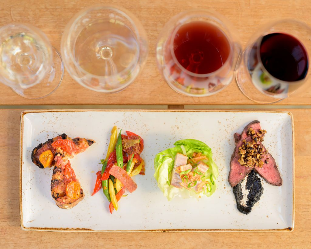 From our Tasting Room Wine + Food Pairing: Lettuce Cups with Pork Belly + Kimchi by Chef Thomas Sixsmith - Cakebread Cellars
