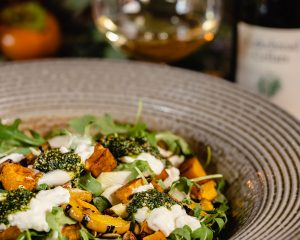Winter Squash Salad with Burrata and Pumpkin Seed Pesto - Cakebread Cellars