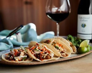 Chicken Adobo Tacos - Cakebread Cellars